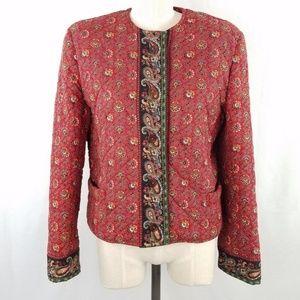 Vintage 90s Vera Bradley Cropped Quilted Jacket